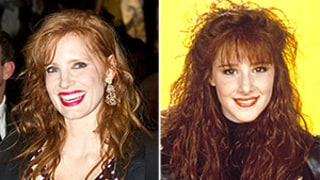 Jessica Chastain Channels '80s Pop Star Tiffany: See Her Big Wavy Hair and Edgy Makeup