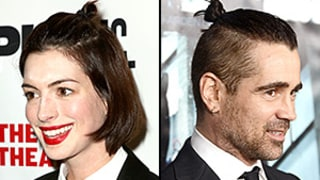 Anne Hathaway Works Classic Man Bun Just Like Colin Farrell: Who Wore the Hairstyle Best?