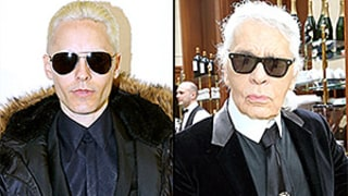 Jared Leto, Karl Lagerfeld Look the Same in Dark Suits and Sunglasses, Platinum Hair: Who Wore it Best?