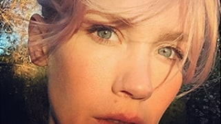 January Jones Debuts Pale Pink Hair Color, Shouts Out Grease as Inspiration: