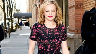 Elisabeth Moss Works the Heck Out of This Adorable Starburst Dress, and It's Only $40! Shop It Here