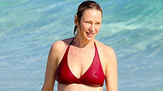 Uma Thurman, 44, Body Surfs and Somersaults in a Red Bikini: See the Funny Vacation Photos