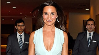 Pippa Middleton Rocks Major Cleavage in Plunging Blue Dress: See Duchess Kate's Sister's Latest Look!