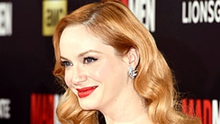 Christina Hendricks Ignores Dress Code in Emerald Green Dress (With a Surprise Twist!) at Mad Men Premiere