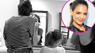 Katie Holmes Dabs on Makeup With Daughter Suri Cruise: Cute Instagram Photo!