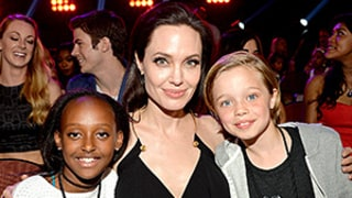 Angelina Jolie Hits Up the 2015 Kids' Choice Awards With Daughters Shiloh and Zahara: See the Pics!