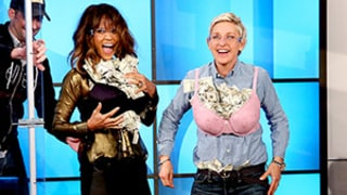 Watch Halle Berry and Ellen DeGeneres Stuff Their Bras With $5,000 Cash in This Funny Video!