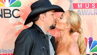 Jason Aldean, Brittany Kerr Make First Post-Wedding Red Carpet Appearance at iHeartRadio Music Awards: Pics