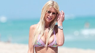 Tara Reid Displays Thin Frame in Printed Bikini in Miami: Picture