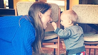Olivia Wilde Horses Around With Son Otis, 11 Months: Silly Photo