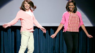 Michelle Obama, Jimmy Fallon Demonstrate