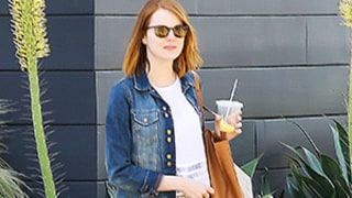 Emma Stone's Yellow Pants, Jean Jacket Are the Perfect Winter-to-Spring Transition Outfit