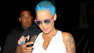 Amber Rose Dyes Her Hair Blue, Reunites With Ex Wiz Khalifa — See Her Wild New Look