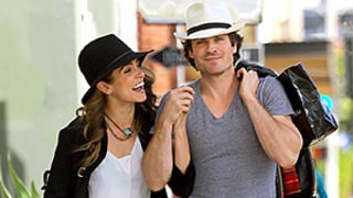 Ian Somerhalder, Nikki Reed Pack on the PDA in Matching Boho-Chic Outfits (Plus, See a Close-Up of That Ring!)