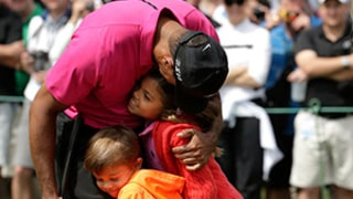 Tiger Woods' Cute Kids, Lindsey Vonn Surprise Him With Golf Course Visit: Pics