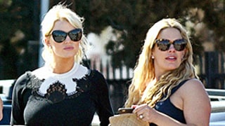 Jessica Simpson Covers Up in All Black Outfit, Hangs With Pregnant CaCee Cobb: See Her Conservative Look