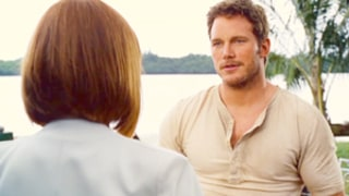 Chris Pratt, Bryce Dallas Howard Flirt Up a Storm in Jurassic World Sneak Peek: Watch Now, Plus Hear Pratt's Made-Up Lyrics For the Film's Theme Song!