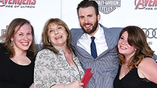 Chris Evans Brings His Mom, Sisters as Dates to Avengers: Age of Ultron Premiere: Picture