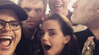 Emma Watson, Luke Evans, Kevin Kline, Dan Stevens, Josh Gad Pose for First Beauty and the Beast Live-Action Selfie