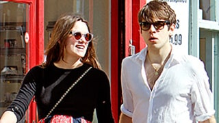 Pregnant Keira Knightley Springs Into Style With Bright Red Skirt: Baby Bump Photos