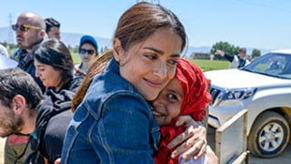 Salma Hayek Gets Emotional Meeting With Syrian Refugees in Lebanon: Photos