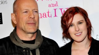 Bruce Willis Visits Rumer Willis During DWTS Rehearsals,