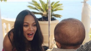 Zoe Saldana Works Out With Her Twin Babies, Entertains Them While Pumping Iron!