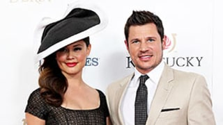 Nick, Vanessa Lachey Look Like Perfect Couple at Kentucky Derby — But WTF Is Gronk Wearing?!