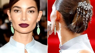 Lily Aldridge's Jewel-Embellished 'Do