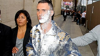 Adam Levine Gets Sugar-Bombed Outside of Jimmy Kimmel Live: Photos, Video