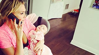 Molly Sims Has a Gisele Moment, Multitasks With Baby Girl Scarlett — See the Cute Pic!