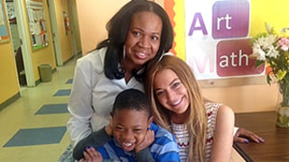 Lindsay Lohan Reunites With Little Donovan From Previous Community Service Stint While Completing New Hours