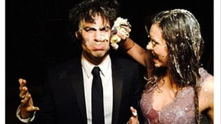 Nina Dobrev Had Cake Fight After Filming Last Vampire Diaries Scene: Photos, Video!