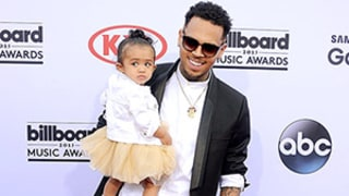 Chris Brown, Kelly Clarkson Bring Kids Royalty, River Rose to Billboard Music Awards: See the Cute Pics