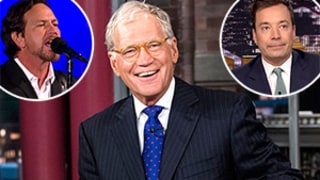 David Letterman Tributes: Jimmy Fallon Chokes Up, Eddie Vedder Performs