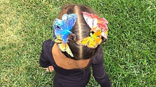 North West Styles Butterfly Hair Clips, Makes Our '90s Nostalgia Radar Bounce Through the Roof
