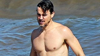 Matt Bomer Looks Ridiculously Hot While Shirtless in a Wet Swimsuit in Hawaii: Pictures