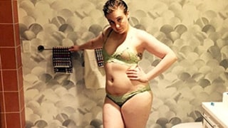 Lena Dunham Wears Lingerie and Nothing Else in Sassy Bathroom Photo