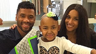 Russell Wilson, Ciara Visit Kids at Seattle Children's Hospital: Pics