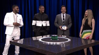 Amanda Seyfried, Marlon Wayans, and Jason Derulo Play Hysterical Game of Catchphrase With Jimmy Fallon on The Tonight Show