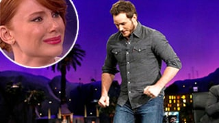 Chris Pratt Runs in Heels, Bryce Dallas Howard Cries on Cue: Watch!