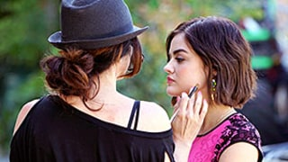 Lucy Hale Gets Glam Behind the Scenes of Pretty Little Liars (That Lipstick!): See the Photos