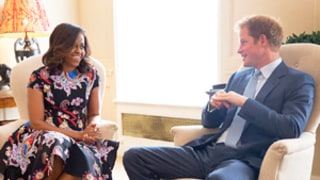 Michelle Obama Has Tea With Prince Harry at Kensington Palace, Harry Meets Sasha and Malia