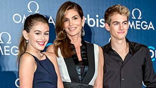 Cindy Crawford, Look-Alike Daughter Kaia, and Son Presley Go Glam on the Red Carpet in Hong Kong: See the Sweet Photos!