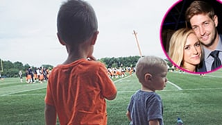 Kristin Cavallari's Sons Camden and Jax Watch Their Dad Jay Cutler Play Football: Photo