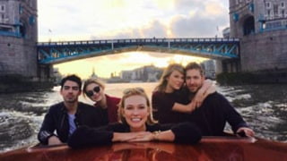 Taylor Swift, Calvin Harris Double Date with Gigi Hadid, Taylor's Ex Joe Jonas During Romantic London Boat Trip