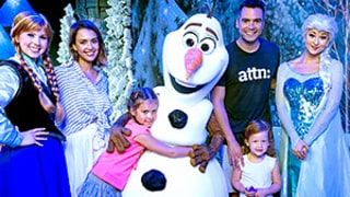Jessica Alba, Cash Warren Take Daughters Honor and Haven to Disney World on Frozen Adventure -- See the Cute Pics!