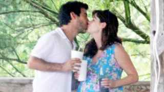 Pregnant Zooey Deschanel Attends CPR Class, Shares Kiss With Fiance Jacob Pechenik: Bump Pics