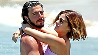 Lucy Hale Rocks Neon Bikini, Smooches Boyfriend Anthony Kalabretta While Swimming: See the Photos!