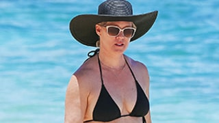 Jennie Garth Sports Massive New Rose Tattoo on Hip in Tiny Black Bikini: See the Photos